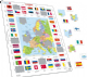 Map of Europe with Flags - Frame/Board Jigsaw Puzzle 29cm x 37cm (LRS  KL1-GB)